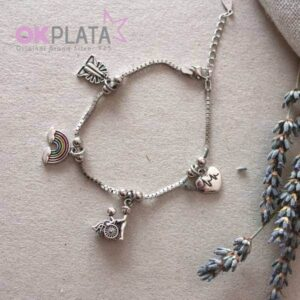Pulsera para Auxiliar de Geriatría de Plata