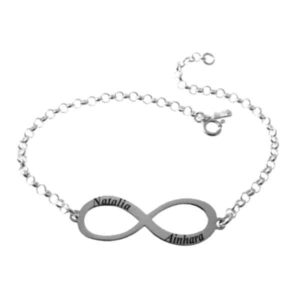 Pulsera símbolo de infinito con nombres