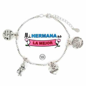 Pulsera de la Familia para las hermanas de plata
