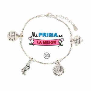 Pulsera de la Familia para las primas de plata