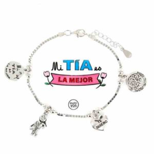 Pulsera de la Familia para las tías de plata